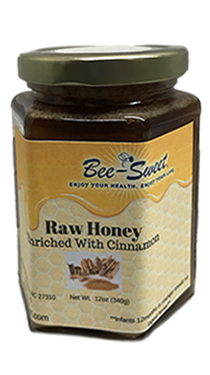 Raw Honey enriched with Cinnamon 12oz
