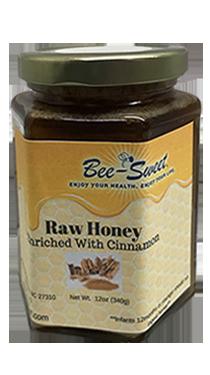 Raw Honey enriched with Cinnamon 12oz