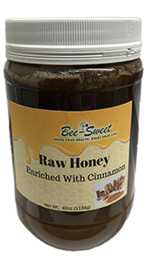 Raw Honey enriched with Cinnamon 40oz