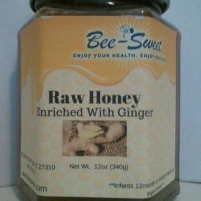 Raw Honey enriched with Ginger 12oz
