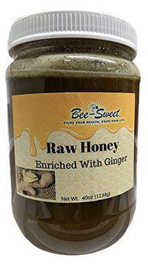 Raw Honey enriched with Ginger 40oz