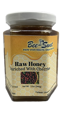 Raw Honey enriched with cherries 12oz